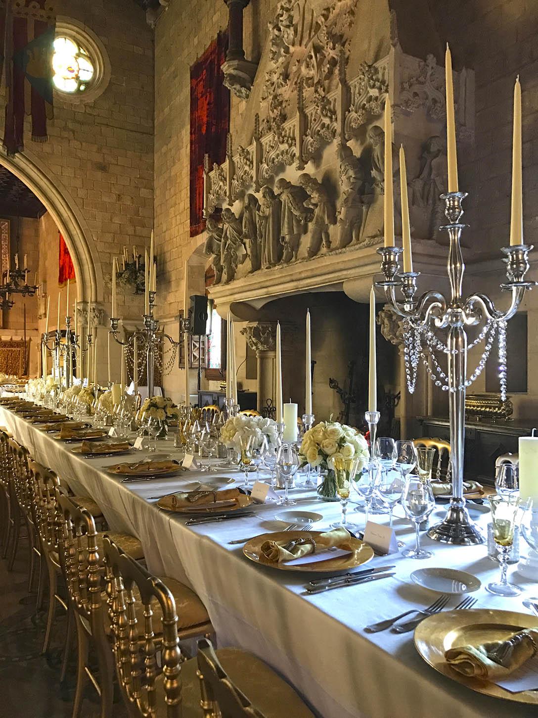 Ambientación de salón para boda
