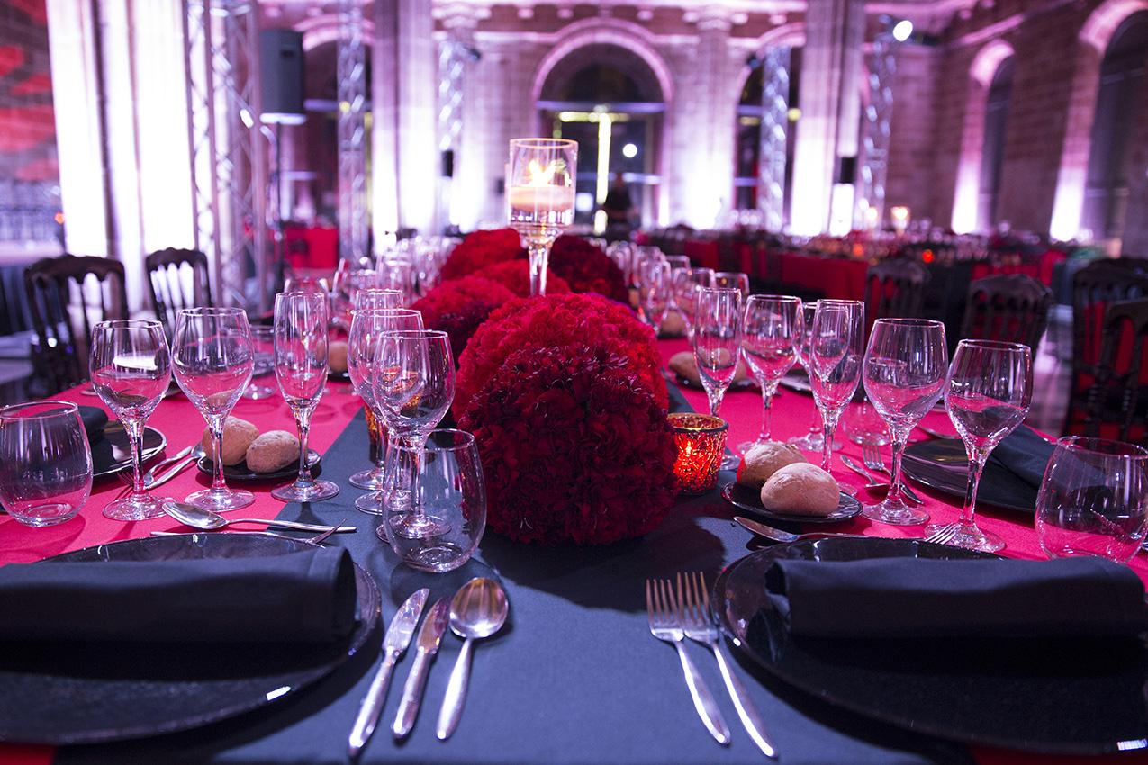 Bolas de flores en evento en Barcelona