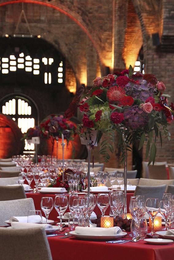 Centros florales en altura para eventos en Barcelona