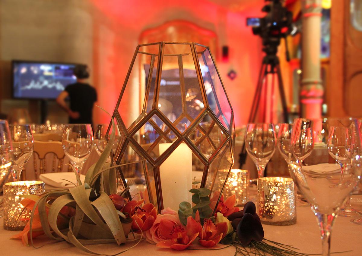 Velas y flores para eventos